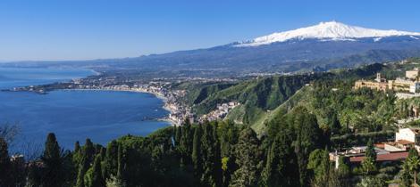 Il golfo di Catania con Etna