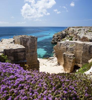 Veduta del mare di Sicilia