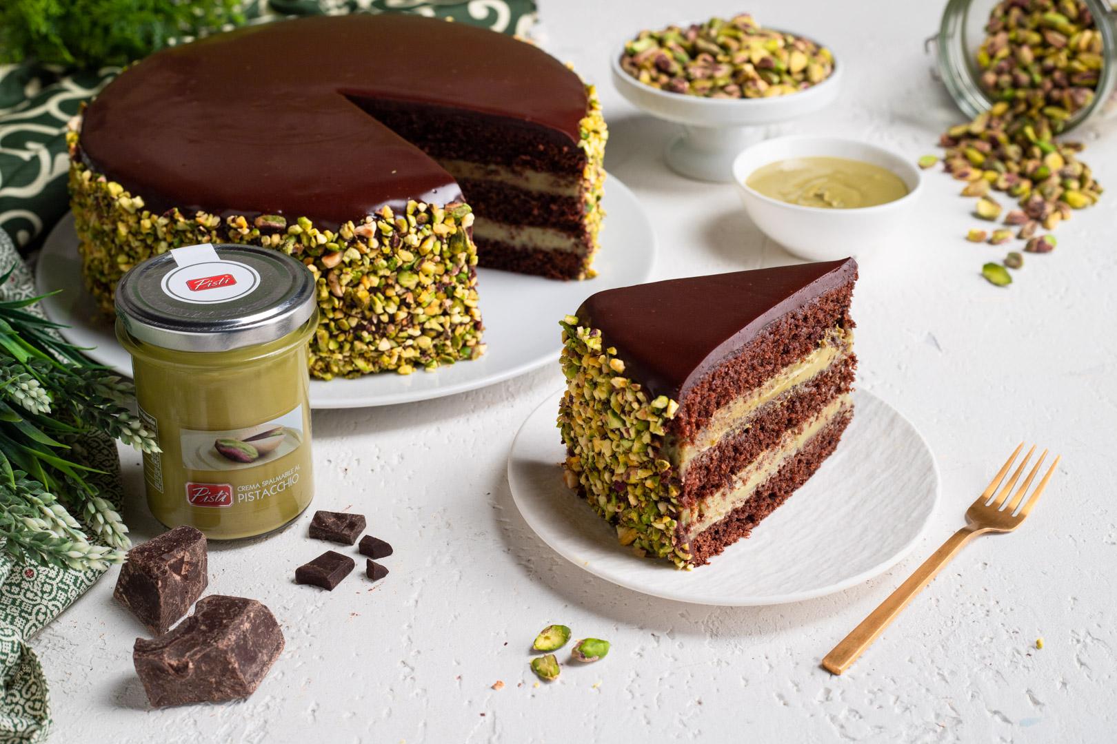 Torta cioccolato e pistacchio Pistì 7